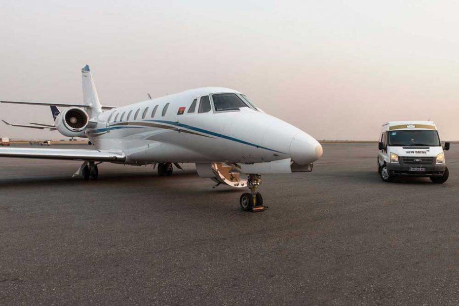 Viajar jacto privado angola