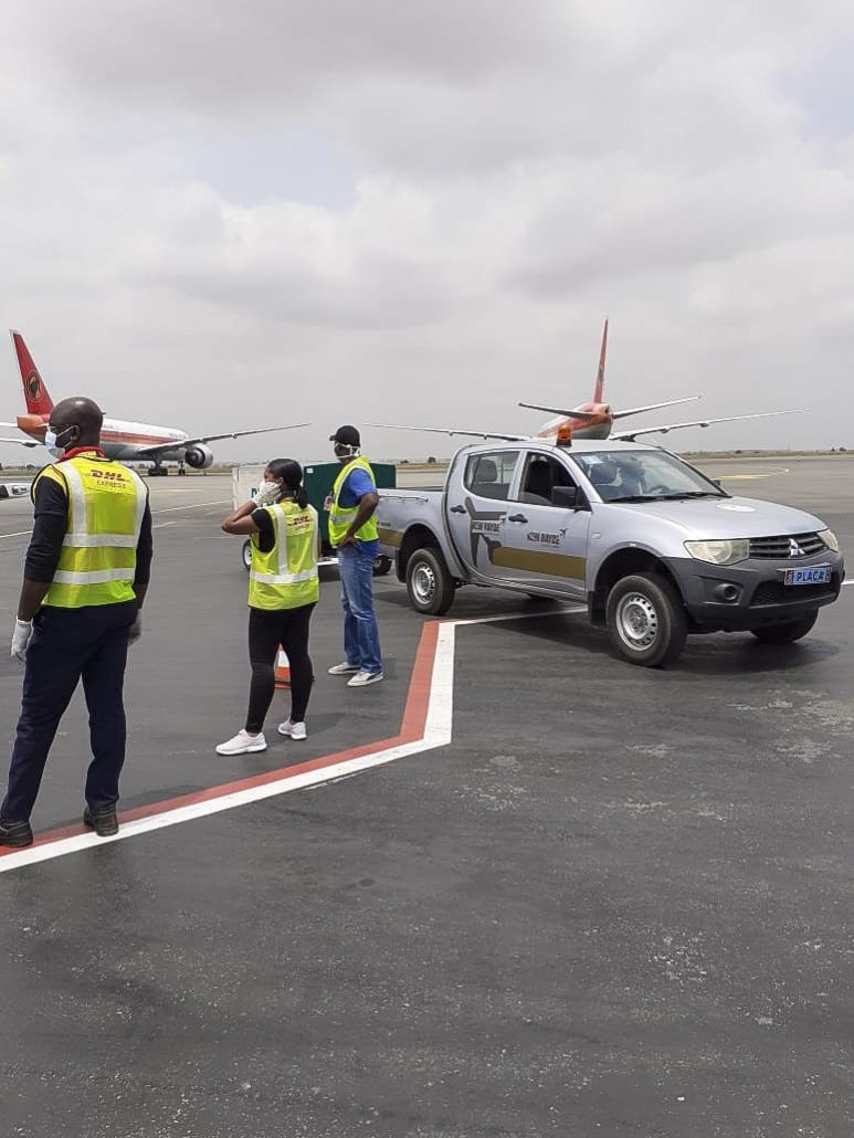 Ground handling operations for a Cargo Flight